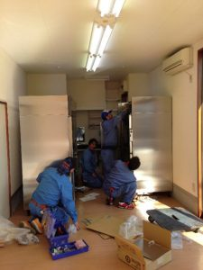 installing freezers