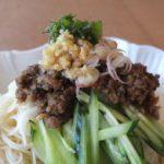 zha jiang mian with saury