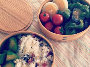 Lunch with summer veggies